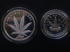 3 oz silver proof cannabis cures legalized Colorado BU .999 pure silver shield
