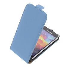 Funda para Samsung Galaxy S5 Mini Tipo Flip Teléfono Móvil Tapa Azul Claro