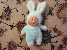 Vintage Easter Pets Rubber Face Hands Feet Bunny Rabbit Plush Doll SEE DESCRIPT