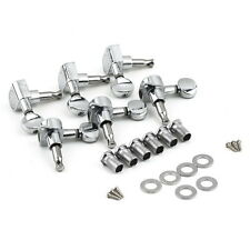 Chrome Inline Guitar String Tuning Pegs Tuners Machine Head 3 Right&3Left SM