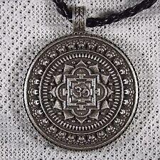 Collana ciondolo OM Mandala Tibetano Buddha Argento Fiore di Loto intrecciati
