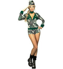 Secret Wishes Army Girl Sexy Military Women's Adult Costume Romper Size XS 2-6