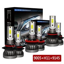 6x H11 9005 LED Headlight + 9145 Fog Lamp Bulbs for 2011-2017 Ram 1500 2500 3500