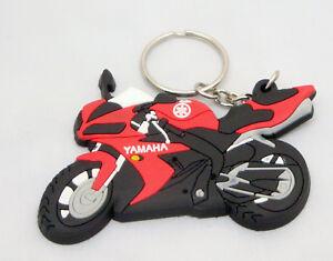 Red Yamaha Motorbike Rubber Keyring