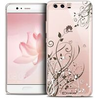 Coque Crystal Gel Pour Huawei P10 Extra Fine Souple Love Hearts Flowers