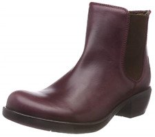 Genuine Fly London Women's Make Leather Ankle Boots Purple Size UK 5