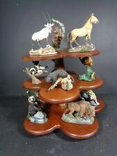 More details for franklin mint wildlife preservation trust sculptures & stand