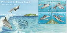 Pitcairn Islands 2012 FDC Dolphins 4v Set Cover Spinner Bottlenose Dolphin