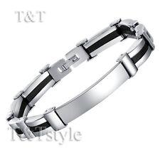 UNIQUE T&T 316L Stainless Steel Plain ID Bracelet NEW