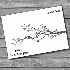 Engagement Wedding  Personalised Thank You Party Notes / Card-12 invites s3