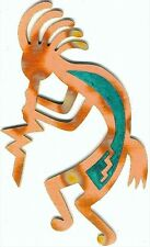"COPPERCUTTS Kokopelli Wall Plaque 5.5"" x 9"" SouthWest Rustic Style Copper & Wood"