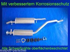 Typ 88/_, 89/_ Kit Abgasanlage Auspuff Opel Vectra  A 1.8i /& 2.0i CC Fließheck