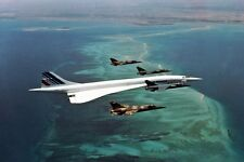 New 5x7 Photo: Supersonic Concorde Flies in Formation Flight with Fighter Jets