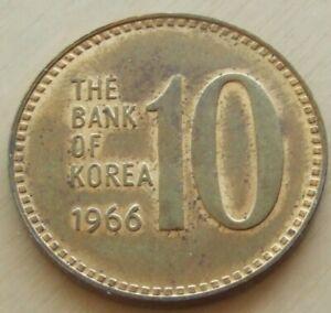 1966 Korea 10 won coin