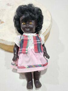 Pretty Black Rubber Doll Metti Style Tribal 26cm Tall Education, Good Condition