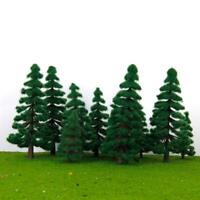 16pcs Pine Trees Model Train Layout Scenery Wargame Diorama Landscape HO-Z Scale