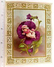 Superb Fantasy Child In Giant Purple Flower Fabulous Christmas Poem Card F52