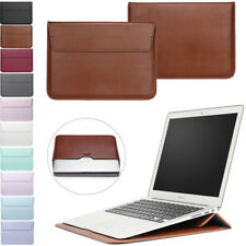 For MacBook Air 11 13 Pro 13 15 Retina PU Leather Laptop Sleeve Bag Case Cover