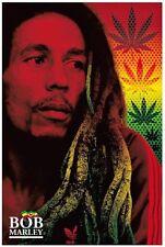 "Bob Marley Rasta Dreads Poster 24""x36 Rock n Roll Hippie Biker"