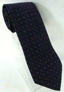 "PAUL STUART Mens Silk Tie Diamond Link Geometric 3 5/8""x 57"" Purple Orange USA"