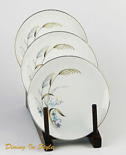 Set of 3 Bread Plates, SUPERB Condition! Laura, Narumi, Gold & Silver Wheat
