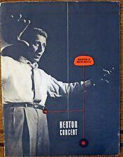 Rare Stan Kenton Jazz Program - Vintage - Original