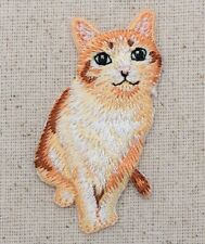 Orange Tabby Cat/Kitten - Pets - Natural - Iron on Applique/Embroidered Patch