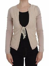 NEW $360 PINK MEMORIES Sweater Pink Floral Lace Wrap Long Sleeve IT42 / US8 / M
