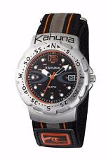 KAHUNA MENS & YOUTH BLACK NYLON STRAP ANALOGUE DISPLAY WATCH - AK1C1013G