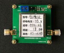 50MHZ-4GHZ 18dB Low-noise Broadband RF amplifier Repeater RF=0.6 Signal Receiver