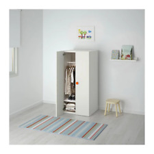 STUVA/FÖLJA Wardrobe, White, 60 x 50 x 128 cm, colourful stickers to label