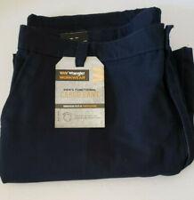 Wrangler Workwear Pants Inseam Gusset Cotton Blend Twill 44x30 Black Jeans
