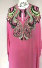 £3295 EMILIO PUCCI PURE SILK KAFTAN DRESS GOWN JEWELLED SWAROVSKI CRYSTALS BNWT