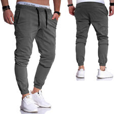 Herren Jogger Chino Hose Jogger Jeans Low Crotch Cargohose Jogginghose Pants NEU