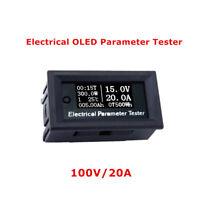 100V 20A Electric Energy Tester DC Voltmeter Ammeter Current Voltage Meter Power