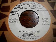 "Jesse Ed Davis w Eric Clapton 7""45 ex Usa Atco Washita Love Child vg+"