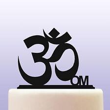 Acrylique om aum hindou mystique religieuse mantra cake topper decoration