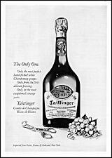 1975 Tattinger chardonay de champagne bottle grapes vintage photo Print Ad ads26