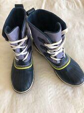 Sorel Rain Snow Boots Booties Blue Lace Up Waterproof 1857-439 9 41.5