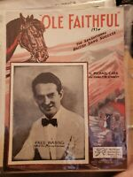 Vintage Sheet Music 1934 Ole Faithful Michael Carr Fred Waring SHIPS FROM USA