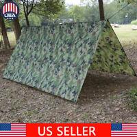 Camping Tent Tarp Sunshade Shelter Awning Mat Rainproof Hammock Cover Rainfly