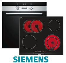 Siemens HERD Einbau Autark Backofen Umluft + Glaskeramik Kochfeld 60 Herdset