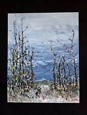 "Original Acrylic Painting 16x20 Canvas on Board ""A Day Of November"" Tecnic:Knife"