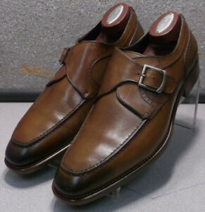243086 MSi60 Men's Shoes Size 9.5 M Brown Leather Made in Italy Johnston Murphy