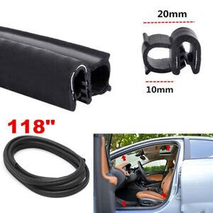 3M Universal Car Door Window Seal Strip Anti-Dust Wind Noise Rubber Kit Hollow