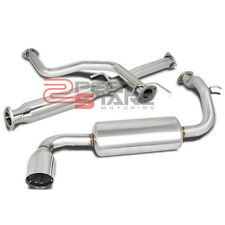 FOR 88-91 CIVIC 3-DR HATCHBACK STAINLESS SINGLE PATH CATBACK EXHAUST MUFFLER