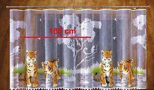Niños Pintado Visillo Diseño Animal Tigre Listo para Colgar Dos Diferentes