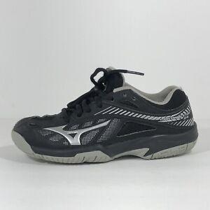 Mizuno Boys Lightning Star Z4 Jr Volleyball Shoes Size US 2 Big Kid Black & Gray