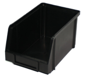 PB18-ECO Large Black Recycled Plastic Storage Bin Pack of 10