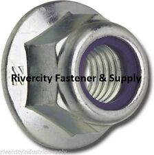 (50) M10-1.5 or 10mm Metric Hex Flange Stop Lock Nut / Nylon Insert DIN 6926